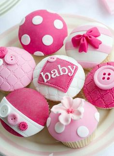 best baby shower ideas, baby shower cupcakes