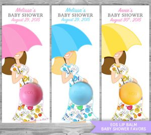 EOS Lip Balm Baby Shower Favors