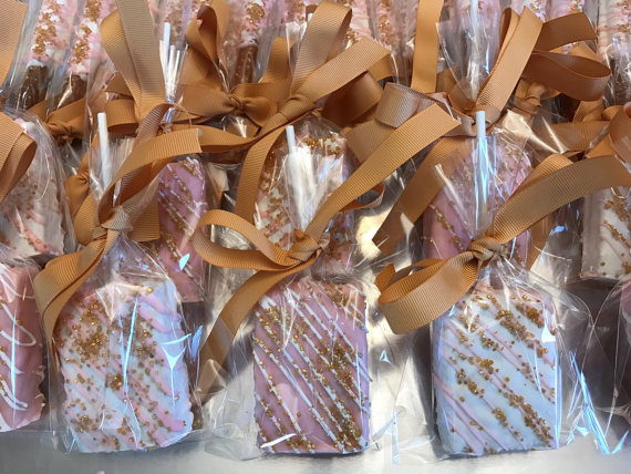 baby shower rice crispy favors
