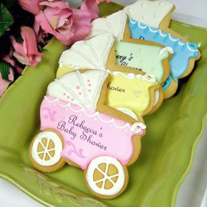 personalized baby shower cookies