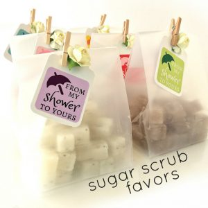 sugar scrub baby shower favors
