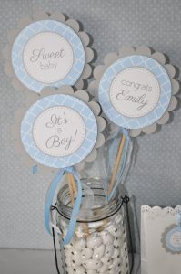 diy baby shower centerpiece sticks