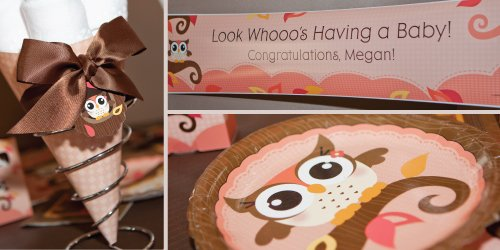 Pink Owl Baby Shower theme ideas