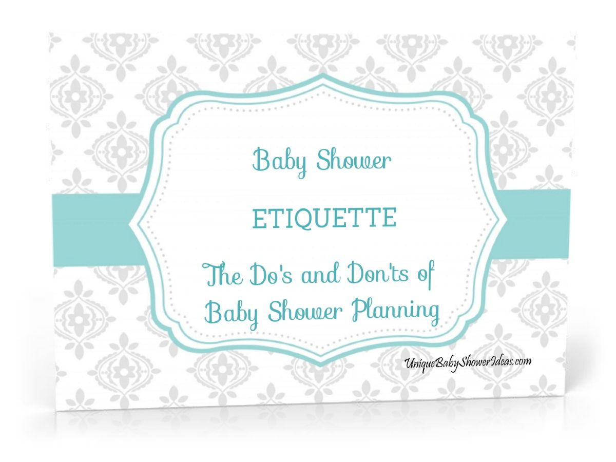 Proper Etiquette for Baby Showers