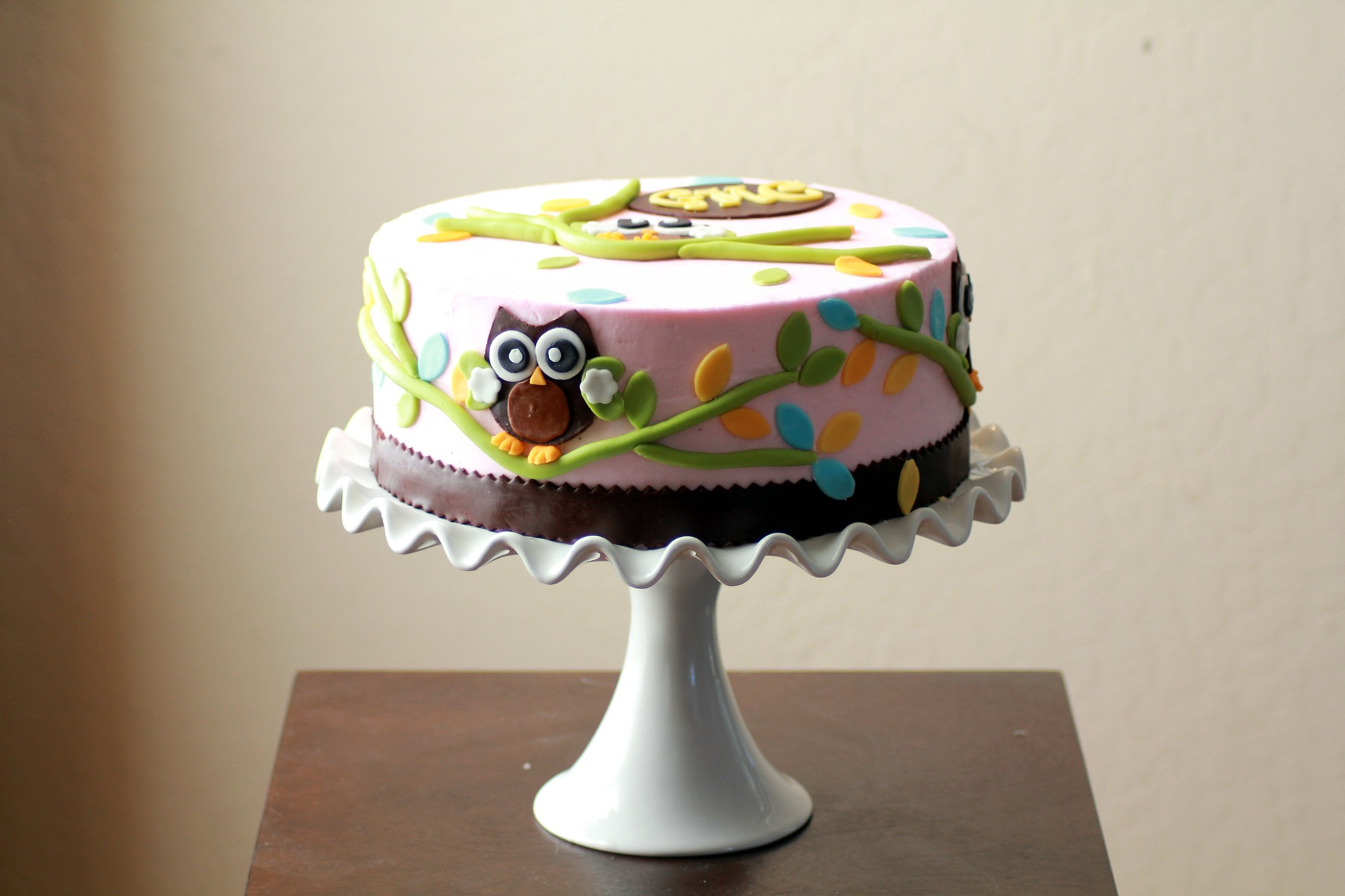 Owl baby shower cake picture