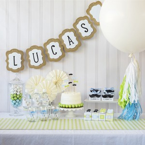 little man baby shower theme
