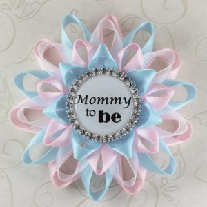 Lovely Baby Shower Corsage For Mom