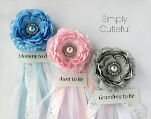 Baby Shower Corsage Ideas