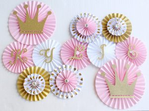 baby shower paper rosettes