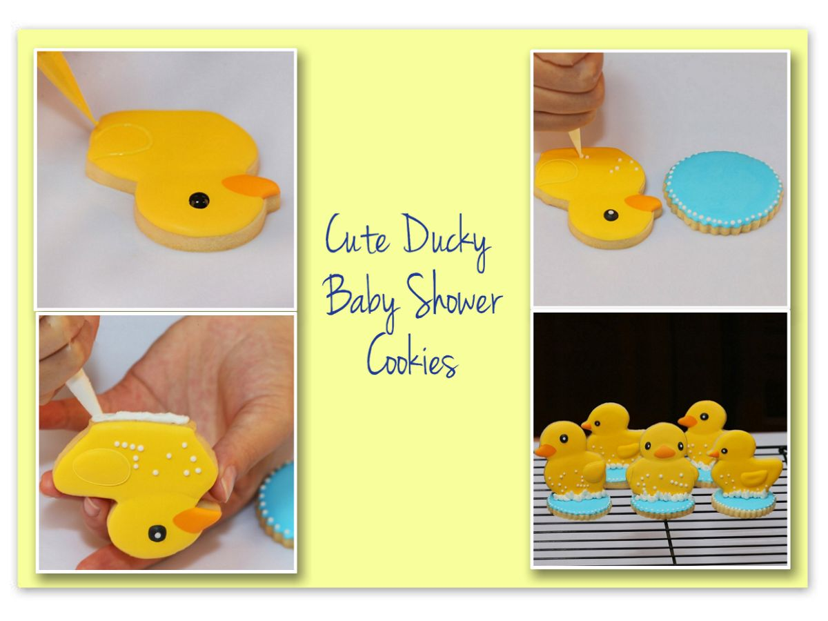 ducky baby shower cookies