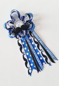 little man baby shower corsage