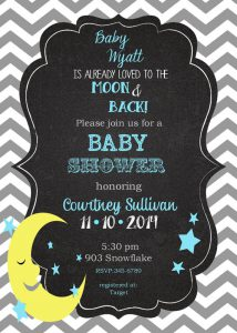Awesome moon and star baby shower decorations ideas baby shower moon and star baby shower invitations filmwisefo