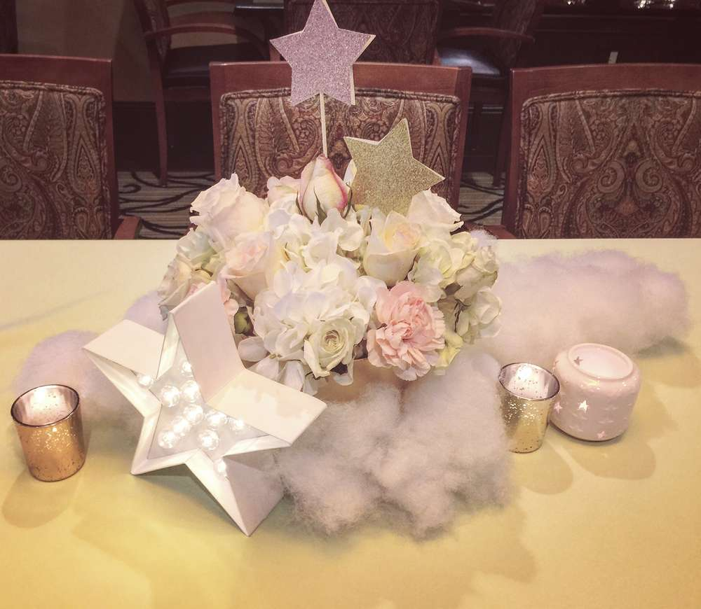 moon and stars baby shower centerpieces