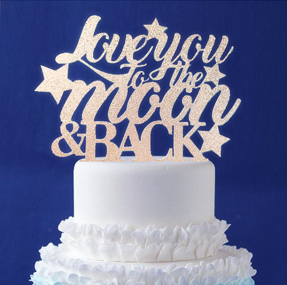 moon and star cake topper