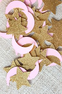 moon and star baby shower confetti