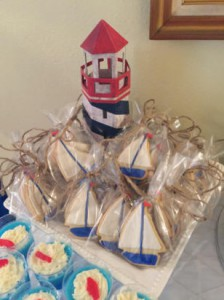 nautical baby shower cookie ideas