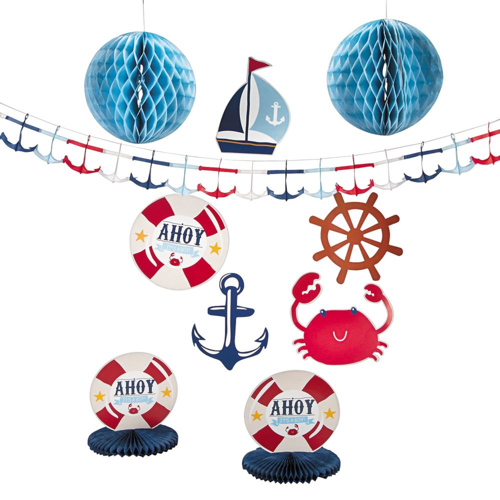 nautical baby shower decoration ideas
