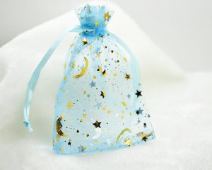 moon and stars baby shower favor bags
