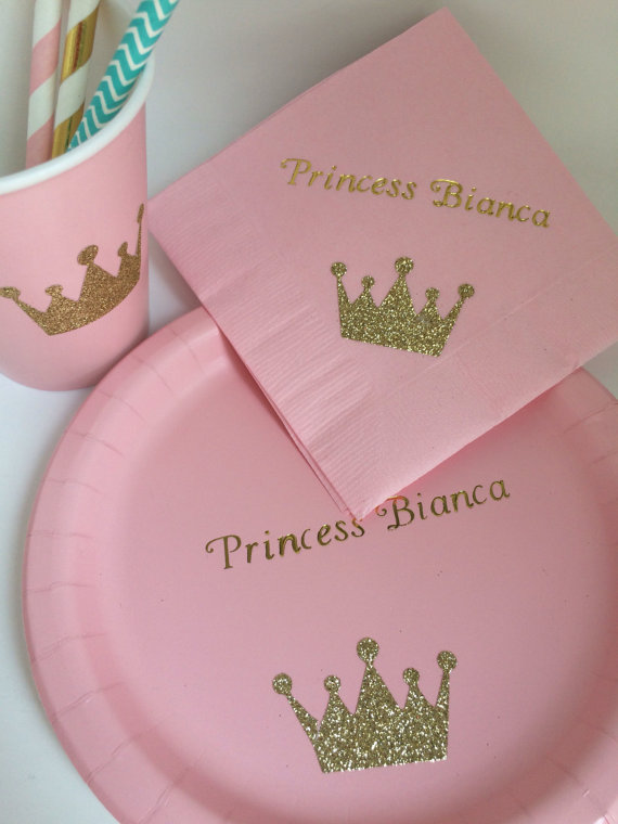 personalized baby shower plates and napkins