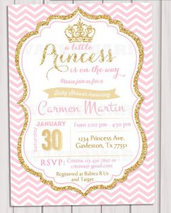 Princess Baby Shower Invitation