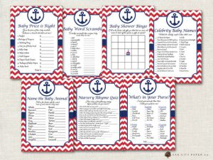 printable nautical baby shower games