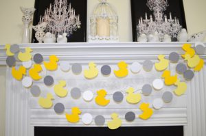 rubber ducky baby shower garland
