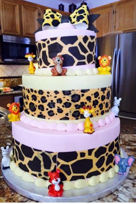 safari baby shower cake ideas