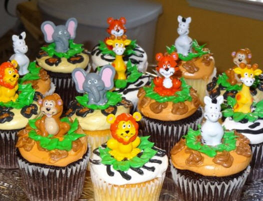 Safari Baby Shower Cupcake Ideas