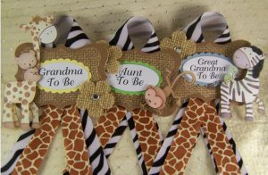 safari jungle baby shower corsages