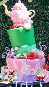Baby Shower Tea Party Ideas Alice In Wonderland Baby Shower Cake