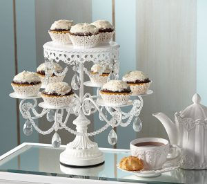 baby shower tea party cupcakes