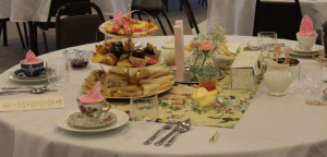 baby shower tea party table