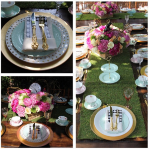 baby shower tea party table setting