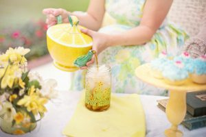 outdoor tea baby shower