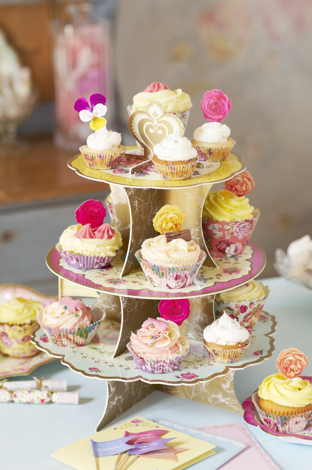 tea party baby shower cupcakes