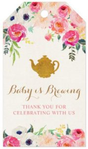 tea party baby shower favor tags