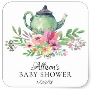 tea party baby shower stickers1