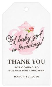 tea party baby shower tags
