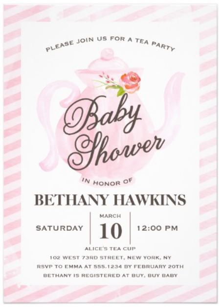 tea_party_baby_shower_invitation cards