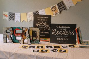 book theme baby shower decorations
