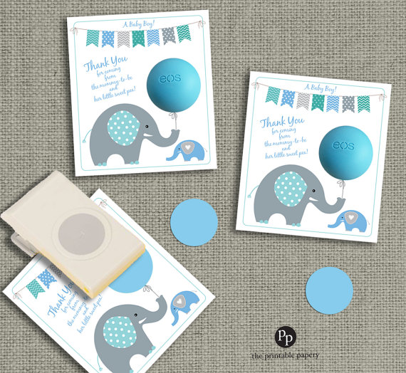 elephant EOS baby shower favor template