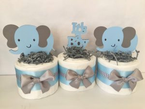elephant baby shower centerpieces