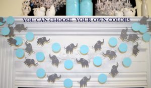 elephant baby shower decor