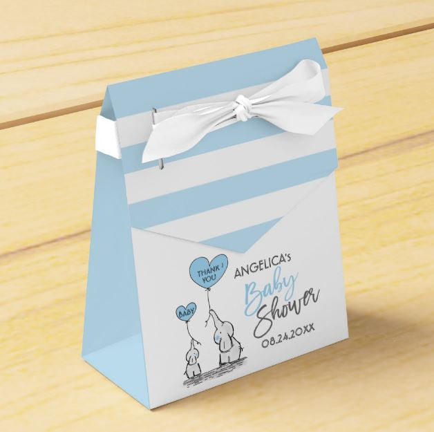 elephant baby shower favor boxes