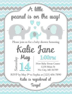 elephant baby shower invitation for boys