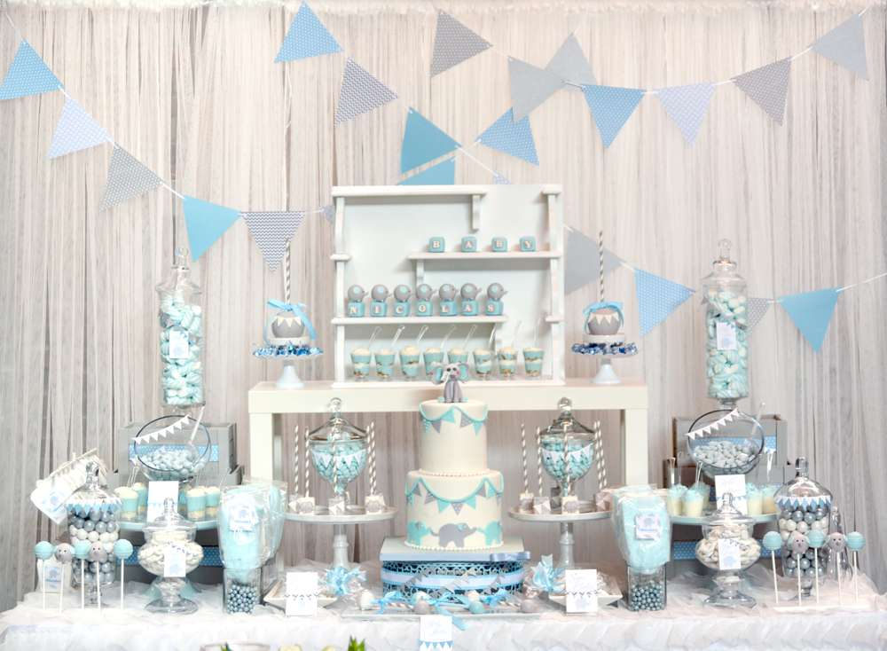 elephant baby shower theme for boys