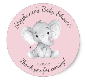 personalized baby shower stickers