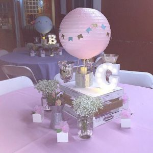 diy baby shower centerpiece
