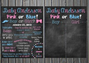 gender reveal baby shower decorations