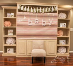 pink and gold baby shower decoration ideas